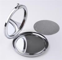 Cosmetic Pocket Mirror Makeup Blank Compact Mirror + DIY Aluminium Flake
