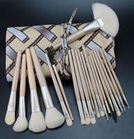 New 20 Pcs Makeup Brushes Professional Cosmetics Tools Synthetic Hair Make up Brush Set Kit+PU Leather Case Free Shipping