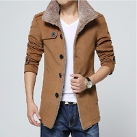 Free Shipping M~3XL Men Winter Jacket Cotton Padded stand collar Thick Outwear Men's Coat