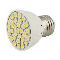 Spotlight PVC E27 30 LEDs SMD 505012V DC Warm White 3000K
