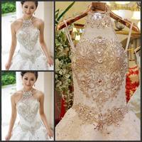 new princess wedding dress 2014 Korean Bra straps trailing wedding bride vestido de novia vestido de noiva a040