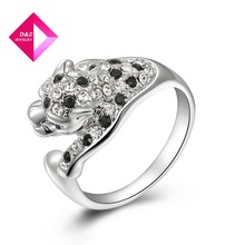 D&Z fashion new arrival Personalized Black and Whitel eopard Diamond ring,ring series
