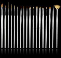 Hot 15PCS Nail Art UV Gel Design Pen Painting Brush Set Salon Manicure Tips Tools