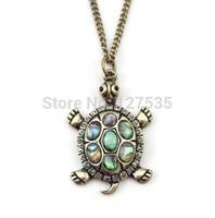 3pcs/lot fashion jewelry items vintage metal tortoise turtle pendant  necklace