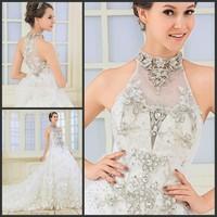 new princess wedding dress 2014 Korean Bra straps trailing wedding bride vestido de novia vestido de noiva a037
