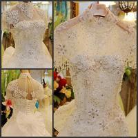 new princess wedding dress 2014 Korean Bra straps trailing wedding bride vestido de novia vestido de noiva a030