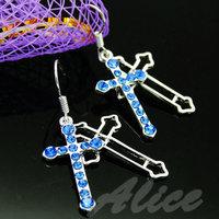925 Silver Earrings Jewelry Fashion Earrings Fashion Jewelry Crystal Earrings Cross MDE102