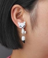 fashion new white fox lovely Earring stud earring