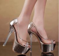Free shipping ! Wholesale! 2014 new fish lips sexy waterproof women's high-heeled shoes, women pumps, fashion women's shoes