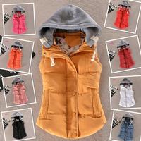 Plus Size 9Colors Fashion Design Autumn Winter Coat Women Ladies Gilet Colete Feminino Casual Waistcoat Female Sleeveless Jacket