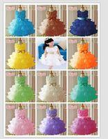 2014 new sleeveless chiffon dress/Girls toddler 3D flower tutu layered princess party formal dress