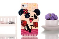 New ! High -quality TPU stereoscopic panda soft phone case for apple iphone4 4S back cover for apple iphone  4s free shipping