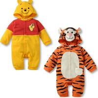 Long sleeves baby boys bodysuit/Cartoon tiger&Winnie autumn clothing/2014 new arrival