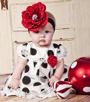 Polka dots elegant baby summer dress/Good quality baby girl dress/Casual baby dress