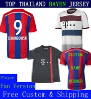 A+++ Thailand New Bayern Lewandowski Pizarro Schweinsteiger 14 15 Thai Ribery Thiago 2015 Soccer Jersey Robben