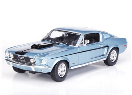 Ford mustang gt alloy car model 1:18 1968 Ford Mustang GT simulation alloy model cars(China (Mainland))