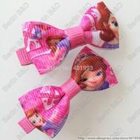 20pcs/lot 2'' FROZEN hair bow clips,8 colors Frozen hair accessories,Princess Sophie hair bow clips 9084