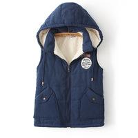 Winter Autumn Woman Coat 2014 Plus Size XL~ XXXXL Cap Quilted Women's Jacket Vest 5 Colors Cotton All-Match Waistcoat