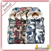 colete feminino 2014 winter vest women Coat camouflage lambs wool liner down cotton vest jacket for women cardigans hooded vest