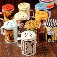 zakka grocery kitchen utensils spice jar storage tank creative home gift D49-03750 (9 models mix