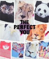 Drop Shipping Woman t-shirts 2014 Summer 3D Animal Head Printed Casual Loose Top Fashion t shirts Women Clothing Basic Tee