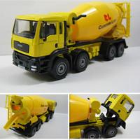 Heavy duty 8 wheel cement mixer alloy engineering car model toy cement tanker
