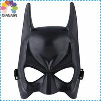 Wholesale 12pcs/lot Fashion PVC Halloween Dance Party Masks Upper Half Face Black Batman Masks For Halloween Supplies