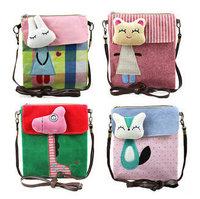 New 2014 Fashion Women Bag Cute Flower Rabbit Cat Cartoon Bolsas Femininas Portable Women Handbag College Style Casual Bag