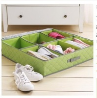 W139 wood charcoal antibacterial series of US -hui finishing shoe box storage box 6 grid