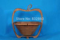 Novelty item folding fruit bamboo basket home storage wholesale free shipping