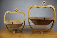 Free shipping 10pcs/lot folding bamboo basket  fruit basket home storage