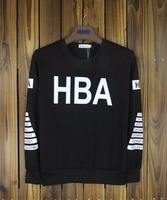 Fashion HOOD BY AIR HBA Hoodies spring&autumn couples round Neck Circles casual pullover black Men HIP HOP Sweatshirts sportwear