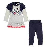 Retail children winter set NOVA baby kids girls wear clothing set winter dress and pants causal girls clothing set HG4820