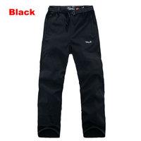Classic Brand Design Mens Outdoor Sport Pants/ HQ S-XXXL Size Autumn Winter Black Waterproof Fleece Warm Trousers/ #A370
