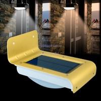 2014 16 LED Solar Power Panel Motion Sensor Solar Led Garden Decoration Light Wall Lamp Outdoor Waterproof Light SV18 SV008508