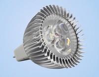 High power 3W MR16 GU5.3 12V 540LM  LED lamp, cold white 6000k 45 degree led spotlight