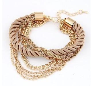 2015 мода популярные низкий ключ роскошный металлическая цепь плетеная веревка многослойные ...