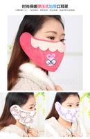 Fashion thick warm spring-mouth masks cold earmuffs earmuffs combo