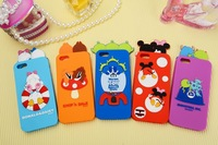 """Newest Lie Prone Monsters Cartoon Chip Daisy Mickey Mnnnie Case for Iphone 5 5S/ 6 4.7""""/6 Plus 5.5"""" Scented Mickey Silicone Case"""