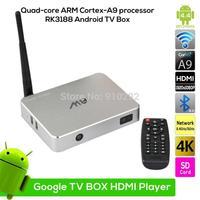 New M8S Android 4.4 TV Box RK3188 Quad-core ARM Cortex-A9 2G/16G MIC Camera XBMC