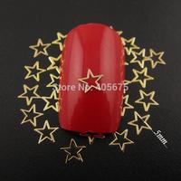 MNS602  Glitter gold nail art star metallic nail polish stickers for nails decoration scrapbooking arts 1000pcs/pack