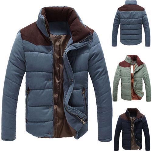 Men's Winter Warm Thermal Wadded Jacket Cotton-padded Slim Style Winter Coat USA(China (Mainland))