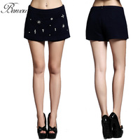 Womens Autumn Comfortable Casual Woolen Pant Shorts Toursers Embellished Short Mini Skirt Pencil Skirt