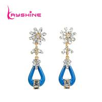 New arrival Fashion Long Earrings Eggplant Design Chandelier Fashion Earrings Blue Delicate Jewelry