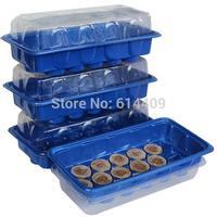 Free shipping 30mm jiffy peat pellets with 2 nursery trays, seeds starter kit, Greenhouse plant start kit, seeds nursery kit