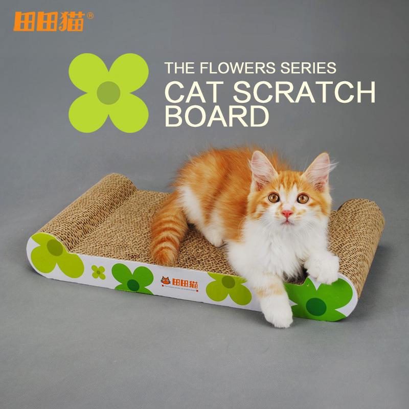Sunflower Cat Scratching Post bones corrugated cat toy cat sofa supplies(China (Mainland))