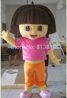 Dora mascot  mascot costume adult beautiful evening dress suit