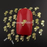 MNS605 gold/silver coconut nail design DIY decoration metal nail art beauty nail tools supplies 1000pcs/pack