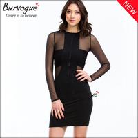 2014 women Autumn dress Long Sleeve Sexy Party fashion for winter underwear mini maxi zipper club knee girl transparent evening