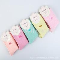 2014 Izmir Winter Thickened Warm&Soft Looped Pile Women Cotton Socks 2 Styles 5 pairs/lot